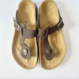 New Betula Birkenstock Gizeh Sandals Brown Size 8